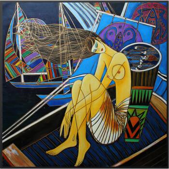 抽象装饰画人物油画创意艺术画