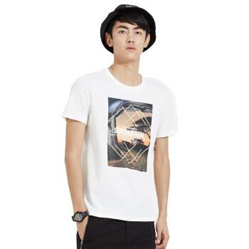 美特斯邦威2015夏装新款男装风景图案字母照片短袖t恤