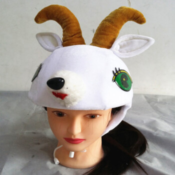 儿童动物表演帽子头饰老小狗山牛道具 山