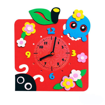 幼儿园diy手工制作儿童钟表闹钟材料包 创意卡通时钟
