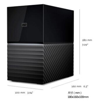 西部数据(WD)移动硬盘 My Book Duo 8T12T16T20T24T28T 3.5英寸 20TB WDBFBE