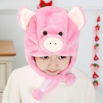 幼儿园儿童兔子动物帽子表演道具演出头饰毛绒动物头套 小猪