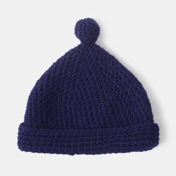 小魔星 羊毛毛线帽子女韩版圣诞帽保暖针织帽手工编织