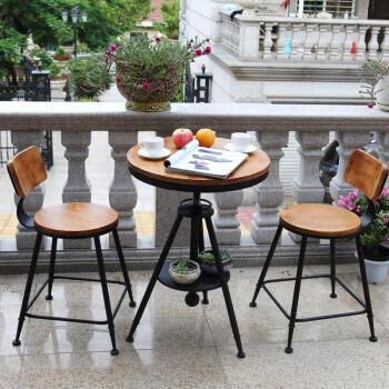 红林梦 小圆桌套装小桌子阳台户外凳子家具休闲小孩三图片