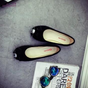 名曼新款韩版超萌人气卡通可爱小老鼠平跟动物豆豆鞋单鞋女鞋平底鞋