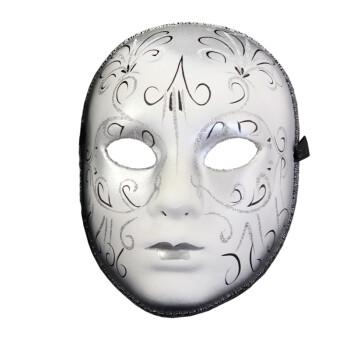 仕彩 威尼斯面具纸浆彩绘面具欧式脸谱情侣面具 威尼斯女款