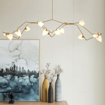 光团精工 桃子吊灯 后现代艺术灯具设计款样板房个性客厅树枝吊灯北欧