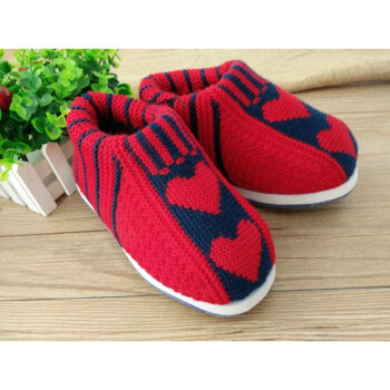 手工毛线海绵棉鞋 编织鞋男女拖鞋儿童保暖孺子牛鞋底