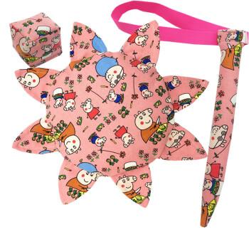 幼儿园儿童手工制作mg子帆布沙包可撕尾巴三件套加大软飞碟 佩佩猪