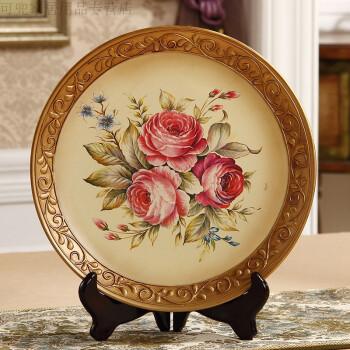 摆盘装饰餐厅墙面装饰盘子挂盘陶瓷盘摆件美式工艺术盘子墙饰看盘装饰图片
