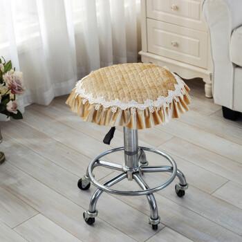 四季加厚小圆垫凳垫凳子坐垫圆形座垫毛绒板凳圆形座椅垫圆凳椅垫 韩