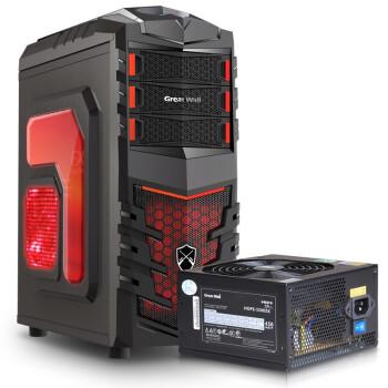 长城(GreatWall)额定450W HOPE-5500ZK电源 + 长城(GreatWall)先锋官 游戏机箱(套装)