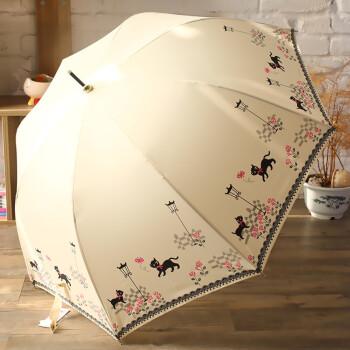雨伞日系小清新长柄伞雨伞女生 创意猫咪防风伞晴雨伞