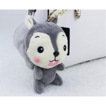 可爱动物小松鼠挂件 创意毛绒汽车钥匙扣挂件 钥匙圈