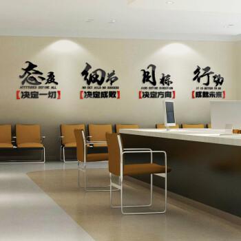 星辉3d立体墙贴文化墙装饰公司团队励志标语企业办公工作室亚克力墙贴