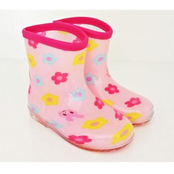 春夏儿童雨鞋幼儿园雨天防滑外出水鞋男女宝宝雨靴中筒胶鞋 【包边】