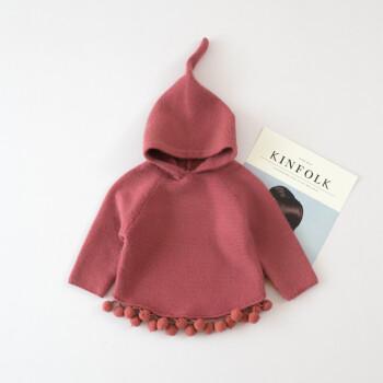 新款女童针织披风童装儿童斗篷女宝宝上衣婴幼儿韩版毛衣开衫外套 砖