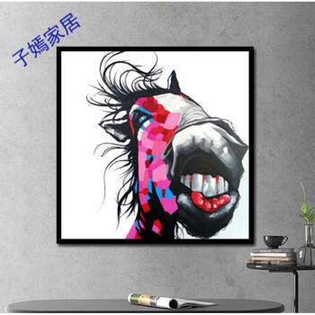 现代简约装饰画艺术动物手绘抽象画客厅沙发墙画 电表