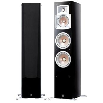 雅马哈(Yamaha)NS-555 家庭影院音箱 落地式主音箱3分频/100W(1对)钢琴漆黑色