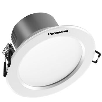 松下嵌入式led筒灯3W5W6W8.5W12W防雾超薄开孔70、75、80、85mm 5W白边4000K中性光8-8.5