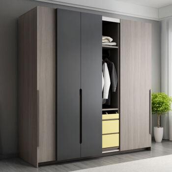 北欧衣柜衣橱推拉门卧室美式简易木质板式白色欧式推.