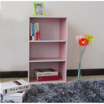 迷你小型书架简约三层落地书柜飘窗小书架自由组合书架简易置物架图片