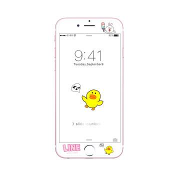 8钢化膜苹果6plus手机膜浮雕透明7plus可爱6s彩膜半屏 6/6s雪糕可妮兔
