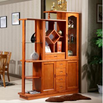 之霖家具 现代中式实木间厅柜玄关柜 屏风柜 酒柜 客厅隔断柜 双面柜图片