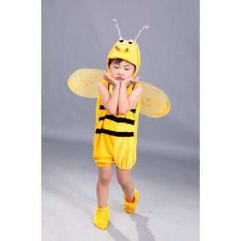 儿童小蜜蜂造型动物表演服装卡通舞蹈幼儿园男女宝宝节日演出服 蜜蜂