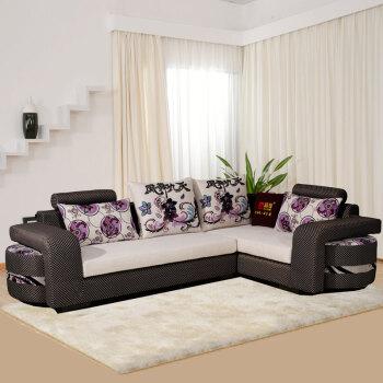 福尊家具 沙发 现代时尚布艺沙发 小户型组合沙发 贵妃位沙发 客厅转角图片
