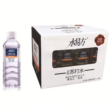水易方天然苏打水 弱碱性水 380ml*12瓶