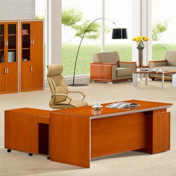 办公家具 实木皮大班台 简约原木老板桌 办公桌子电脑桌QZ 0218S 180