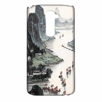 摩品 釉光彩绘手机壳 水墨画创意卡通个性时尚手机套 适用于LG G2 L