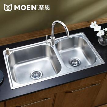 摩恩MOEN不锈钢双槽厨房水槽28117SL ¥999-50