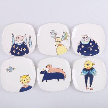 莜米特 牛排盘子陶瓷创意骨瓷盘餐具卡通家用碟子菜盘