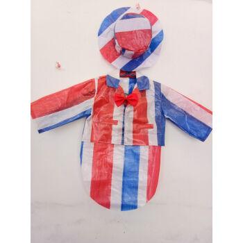 儿童diy手工制作时装秀演出服幼儿园服装男子走秀礼服