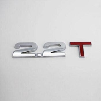汽车3d金属车贴车标贴创意改装排量尾标贴1.8t2.0t3.0t贴标v6 4wd 2.