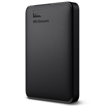 西部数据(WD)2TB USB3.0移动硬盘Elements 新元素系列2.5英寸(稳定耐用 海量存储)WDBUZG00