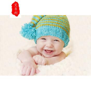 外国可爱宝宝图片 婴儿海报 孕妇胎教照片 漂亮宝宝画 备孕海报 杏色