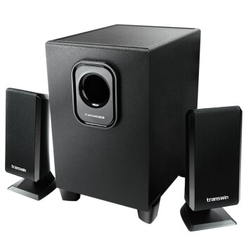 全微(transwin)T-200U 2.1有源多媒体音响 USB 电脑音箱笔记本迷你小重低音炮 黑色