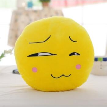 可爱滑稽脸表情抱枕暖手捂靠垫毯子被可插手笑脸毛毯 趴午睡枕头 斜眼