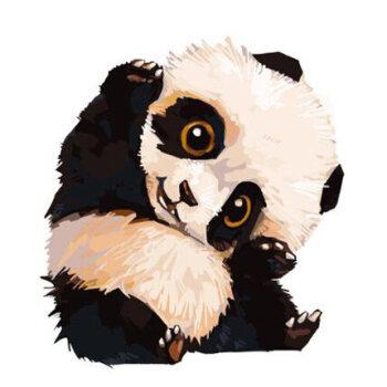 儿童卡通动漫手绘油彩填色装饰画萌宠小动物猫鹿sn3873 e120熊猫滚滚