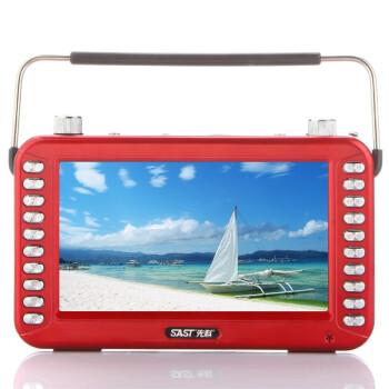 先科(SAST) S-76 7英寸大屏高清视频播放器老人唱戏机插卡音箱(可乐红)