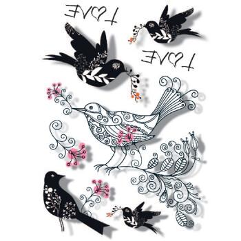 gt正品3d立体纹身贴纸防水龙虎老鹰骷髅玫瑰花蝎子羽毛精灵蜘蛛男女遮