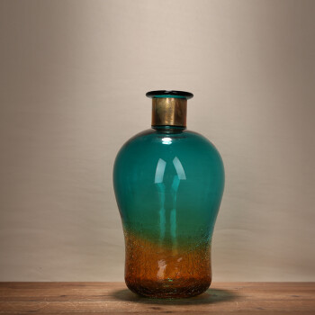 新古典渐变龟裂破碎花瓶客厅桌面装饰品工艺品卧室插花欧式创意 bx 15