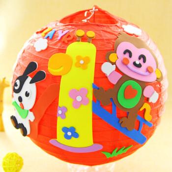 幼儿园儿童手工制作材料包立体粘贴画 灯笼(贴画系列a10)