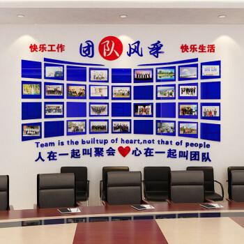 员工风采文化墙公司照片墙办公室装饰贴纸企业励志亚克力相框墙贴 590图片