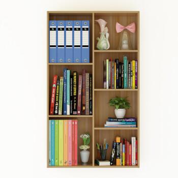 书架简约现代简易桌上学生用迷你办公桌收纳置物架经济型书柜 7格柜图片