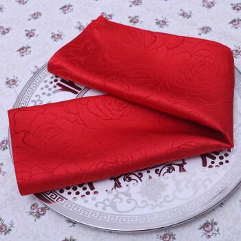 子生高档口布餐巾布北京酒店餐厅台布桌布西餐厅布艺折花口布小方巾