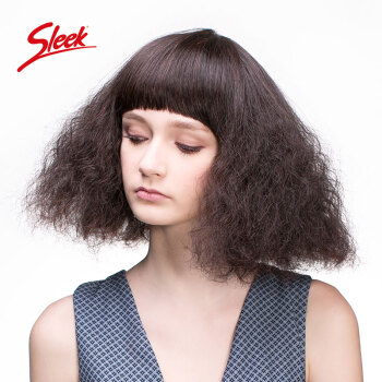 sleek 假发女中长发中长卷发大波浪蓬松自然齐刘海齐肩短发玉米烫 37n图片